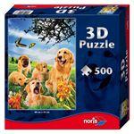 Снимка от 3D пъзел с кучета - Noris