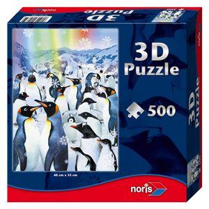 Снимка от 3D пъзел с пингвини - Noris