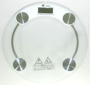 Снимка от Електронен кантар  от 0.100 до 150 кг с кръгла стъклена платформа