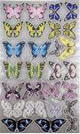 Снимка от Декорация пеперуди с блестящи камъчета за дрехи