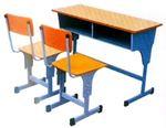 Снимка от Двоен ученически чин със столове